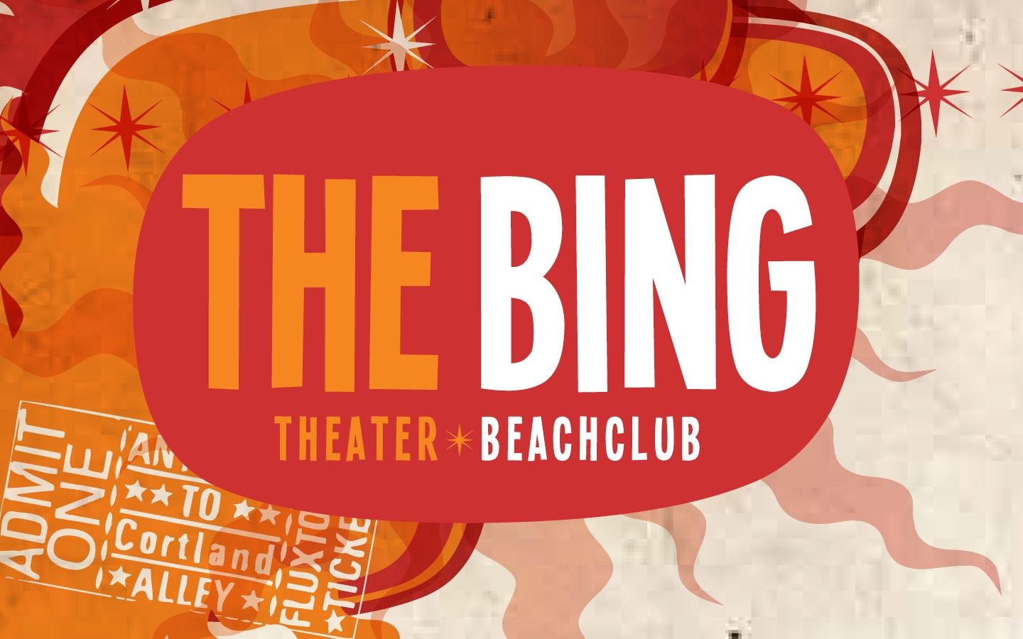 Beachclub The Bing huisstijl
